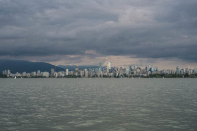 View towards Vancouver from English Bay