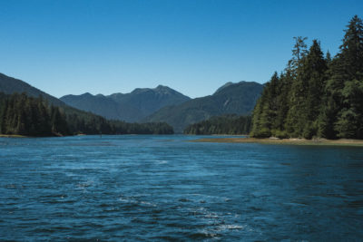 East Narrows in Skidegate Channel, Haida Gwaii