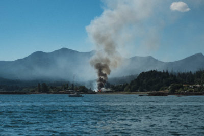 Fire at the Village of Queen Charlotte, Haida Gwaii