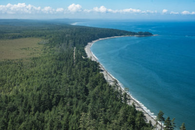 The beachline at the north end of Graham Island, Haida Gwaii